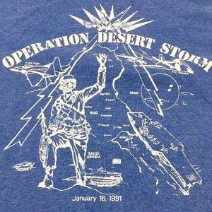 Vtg Screen Stars Best Mens Operation Desert Storm
